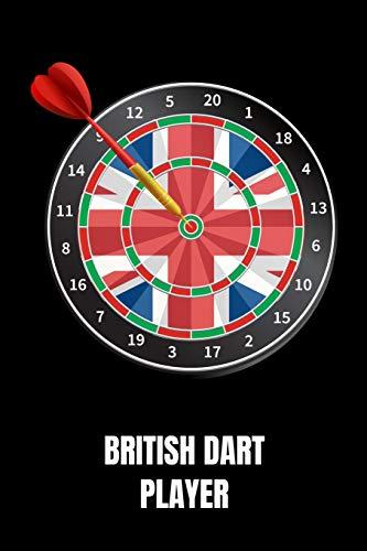 British Dart Player: Notebook 120 Pages Journal 6x9 Blank Line