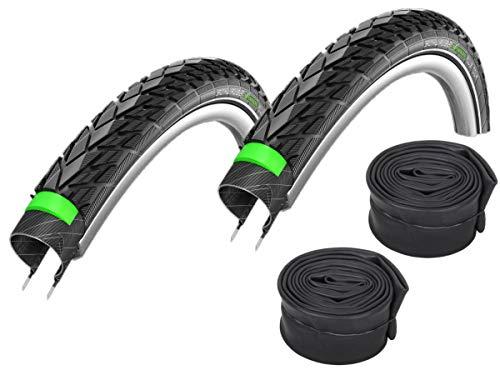 2 x Schwalbe Energizer Plus Tour Decke + Reflex + Schlauch 40-622 (AV17 Autoventil)