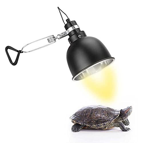 Lámpara de calefacción de tortuga con abrazadera Lámpara de calefacción de reptil colgante, adecuada para reptiles y anfibios, lagarto, tortuga, araña, serpiente, camaleón, 220 V (25 W / 50 W 75 W)