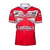 2019-2020 Coupe du monde Tonga Jersey de rugby à la maison, Jersey de rugby Uniforme manches courtes 100% polyester Tissu respirant T-shirt T-shirt Chemise de football pour hommes Femmes Enfants