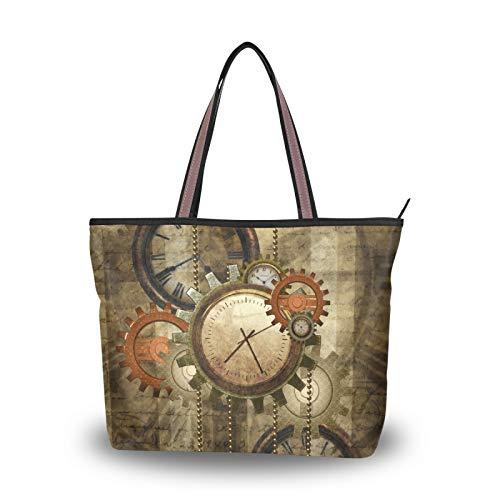 NaiiaN Bolsos para madre, mujer, niña, mujer, estudiante, ligero, correa, bolso de mano, bolso de compras, bolsos de hombro, reloj
