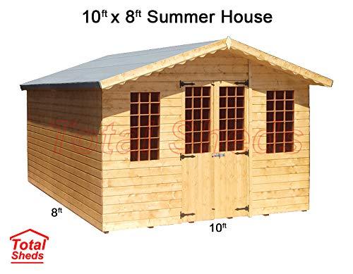 Total Sheds 10ft (3m) x 8ft (2.4m) Summer House Cabin Supreme Cabin