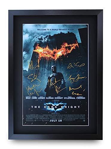 HWC Trading The Dark Knight Batman A3 Gerahmte Signiert Gedruckt Autogramme Bild Druck-Fotoanzeige Geschenk Für Filmfans
