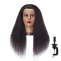 professional Hair 100% Real Hair Afro Mannequin Head Hairdresser Hair Styling Training Dummy …
