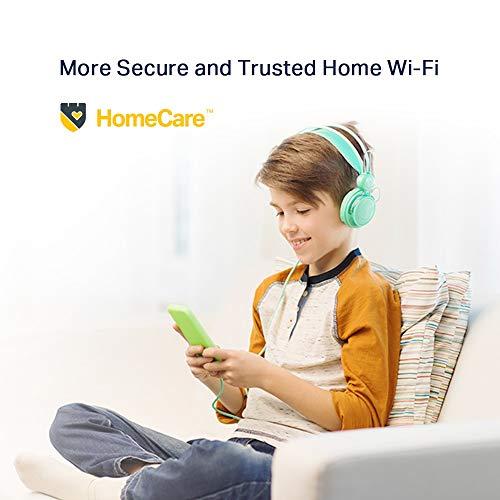 TP-Link Archer AX50 Wi-Fi 6 WLAN Router (2402 Mbit/s 5 GHz, 574 Mbit/s 2,4 GHz, 4 × Gigabit LAN-Ports, 1 × USB 3.0 Port, HomeCare,kompatibel mit Alexa), schwarz