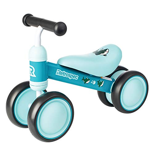 Retrospec Cricket Baby Walker Balance bike with 4 Wheels for ages 12-24...