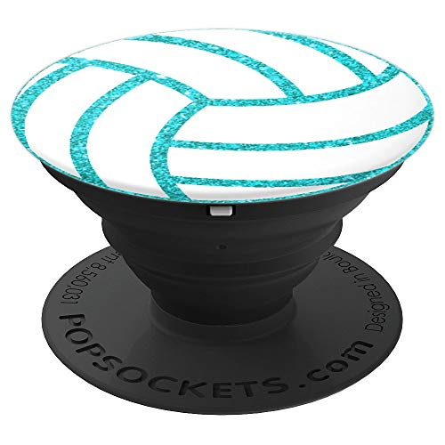 Volleyball Teal, Volleyball Ball, Volleyball Coach, Fans PopSockets Grip and Stand for Phones and Tablets