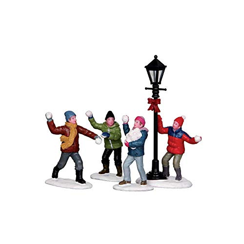 Lemax Village Collection Snowball Fight, Set of 4 #32133