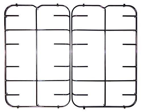 Kit Hotpoint Ariston Indesit Creda - 2 griglie 447 x 285 mm. in ferro smaltato lucido nero per cucina piano cottura 4 fuochi - C00094857-482000028051 - P2759/KIT