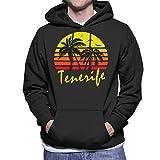 Cloud City 7 Tenerife Vintage Sun Men's Hooded Sweatshirt