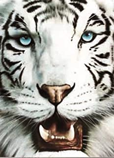 WHITE TIGER 3D UNFRAMED Holographic Wall Art-Lenticular Technology Causes The Artwork To Have Depth and Move-HOLOGRAM Style Images-HOLOGRAPHIC Optical Illusions By THOSE FLIPPING PICTURES