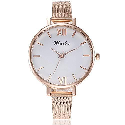 Uhren Damenuhren Watches Armbanduhren WatchArt- Und Weisefrauen-Edelstahl Passt Damen-Quarz-Kleid-Uhren Clock-Rose_Gold Auf