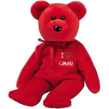 Ty Beanie Buddies I Love Canada - Bear (Canada Exclusive) by Beanie Babies
