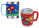 Colorful MUG- FunBlast Cute Cartoon 3D Rubber Print Stainless Steel Emboss Hot & Cold Coffee / Milk / Tea Mug. Durable Material - This kids mug is made of high-quality material, double wall, rubber print and stainless steel. Great for children: This ...