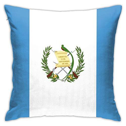 Hangdachang Funda de cojín de algodón y poliéster, diseño de bandera de Guatemala, 45 x 45 cm