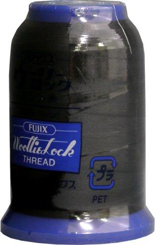 Fujix ウーリーロックミシン糸 25g 402黒