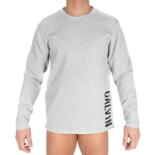 Tommy Hilfiger L/s Sweatshirt Top de Pijama, Gris (Grey Heather), Medium para Hombre