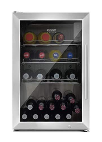 Caso Barbecue Cooler - Design Outdoor/Barbecue Getränkekühlschrank mit ca. 63 Liter Lagervolumen, Mini-Kühlschrank, Temperatur von 0-10°C, Energieklasse A, L Edelstahl