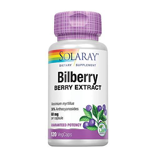 Solaray Bilberry Berry Extract | 120 VegCaps