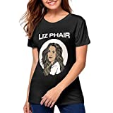 JXSRS - SRTS Womens Liz Phair T Shirts Short Sleeve Tee Shirt Black