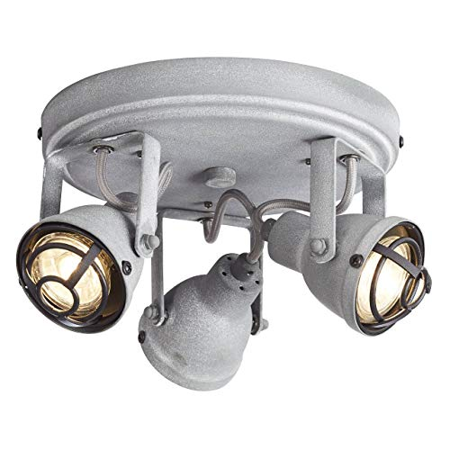 Brilliant BENTE Spotlamp 3xGU10 4W Warmwit Grijs