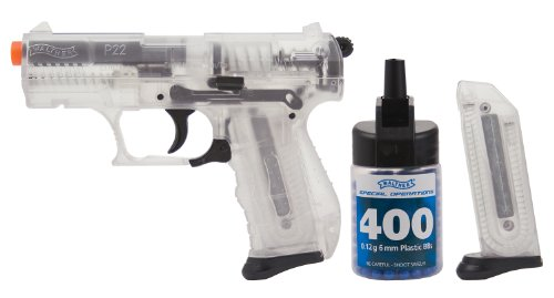 Walther P22 Spring Powered 6mm BB Pistol Airsoft Gun, Clear