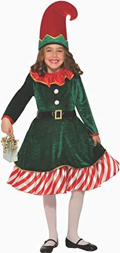Forum Novelties Girl's Santa's Lil Elf Costume, Large