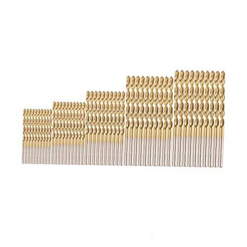 Hotaden 1set (50pcs) Profesional Brocas Conjunto Acero de Alta Velocidad Mini Brocas para Madera de Acero de plástico de aleación de Aluminio (1.0-3.0mm)