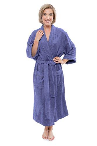 Women's Luxury Terry Cloth Bathrobe - Bamboo Viscose Robe by Texere (Ecovaganza, Kashmir Blue, 2X/3X) Top for Women WB0101-KHB-2X3X
