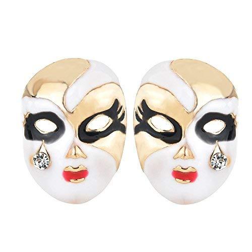Un-brand 1 par de aretes de máscara de Halloween de oro para mujer, pendientes colgantes de oreja, accesorios de...