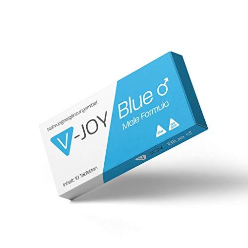 V-JOY Blue – für aktive Männer mit SOFORTWIRKUNG – hochdosierte Kapseln mit Tribulus Terrestris, Selen & Zink – ohne Frust – extra stark für den Mann