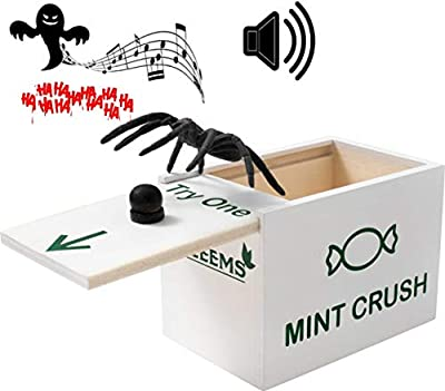 HALEEMS Spider Box Prank - The Only Surprise Box with Spooky Laugh Sound | Wooden Prank Box | Gag Gift Box Pranks for Kids, Pranks for Adults
