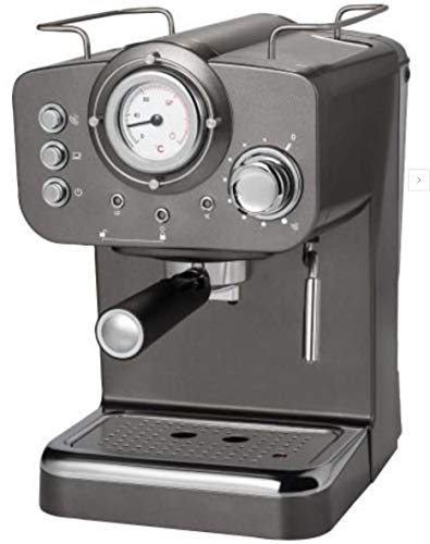 Quigg GT-EM-01 espresso-machine met thermometer stoomhoeveelheidregelaar, 1,2 l
