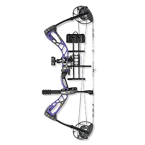 Diamond Archery Edge 320 Compound Bow, 70 Pound Draw Weight, Left Hand, Purple Blaze