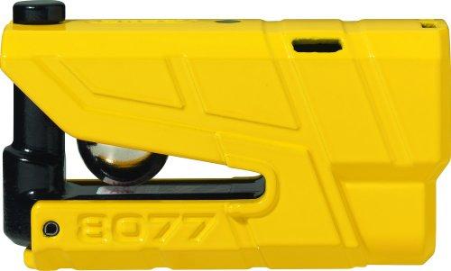 Abus 19004 Blocca Disco Allarme moto Granit Detector X-PLUS 8077SRA, giallo