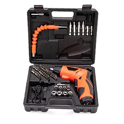 Destornillador eléctrico 4.2V recargable portátil 6N.m Destornillador con luz 1300mAh Multi usos batería de herramientas de bricolaje