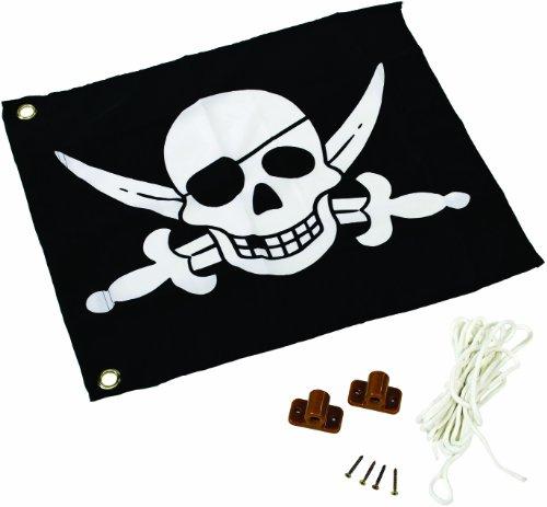 Fahne mit Hiss-System PIRAT - Zubehör Spielturm -