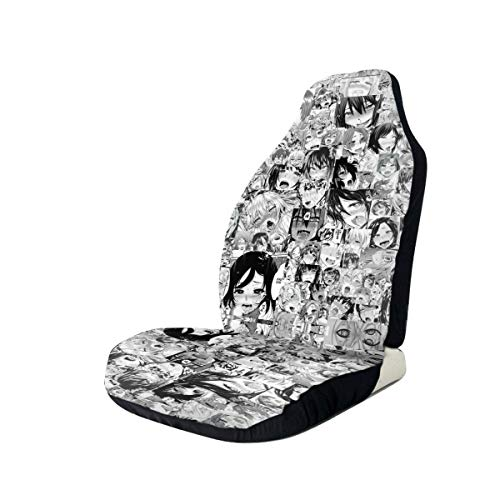 Black Anime Car Seat Covers Anime Front Seats Fit Most Car, Truck, SUV Or Van