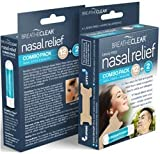 Breathe Clear Nasal Relief Combo Pack, Instant Nasal Congestion Relief with 2 Nasal Inhalers and 12 Nasal Strips for On The Go