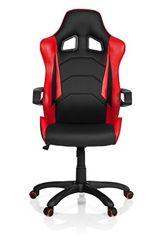 HJH Office Sedia direzionale da Ufficio Racer PRO I, in Ecopelle