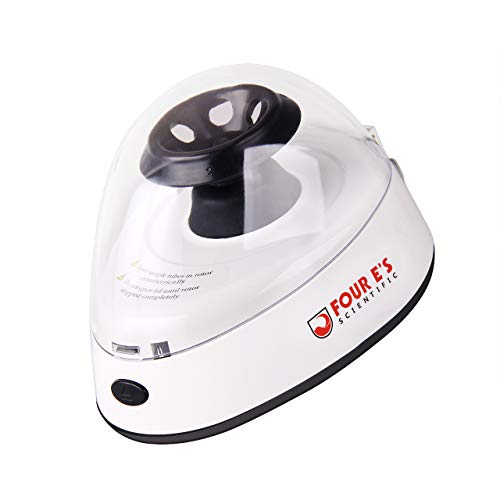 Mini Centrifuge Machine, Four E's Scientific Lab Benchtop Centrifuge, 5400RPM, Low Noise, 2 Rotors for 6 x 2.0/1.5 ml and 2 x 8-Strip PCR Tubes