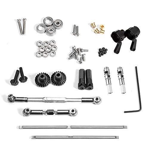 RONSHIN Accessorio OP in Metallo Nero WPL per 1/16 4WD B1 B14 B24 C14 C24 C34 MN D90 91 96 99 99S Ricambi Auto RC