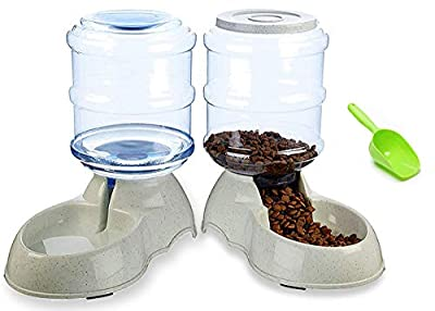 Ito Rocky Pet Feeding Solution Automatic Cat & Dog Cafe Feeder and Water Dispenser in Set with Food Scoop 6-Meal Automatic Food Dispenser for Small/Middle Puppy and Kitten