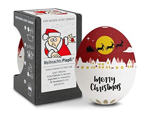Brainstream Weihnachts PiepEi, Eieruhr zum mitkochen, Spielt 3 Melodien für 3 Härtegrade, A001203