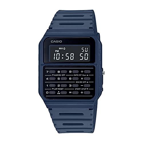 Casio CA-53WF-2B Calculadora azul digital para hombre reloj original nuevo clásico CA-53