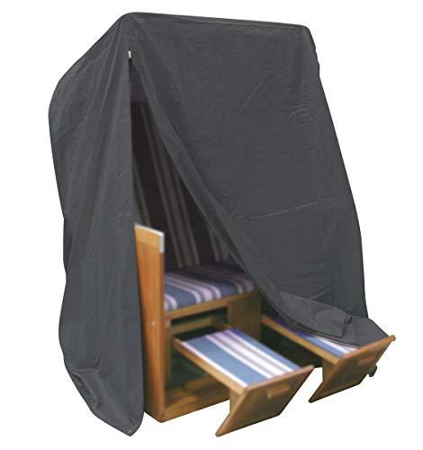 Fachhandel Plus Komfort Schutzhülle XXL Abdeckung für Strandkorb B130xT100xH170 cm anthrazit NEU