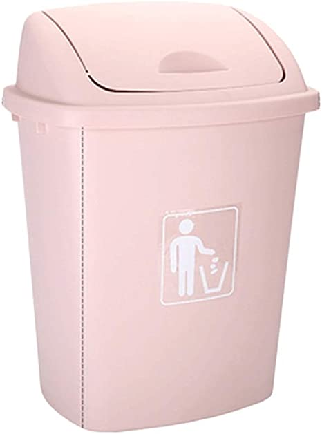 Amazon Com Fabax Garbage Bin Swing Home Garden Kitchen Garbage Recycling Plastic Trash Can Trash Can Removable Detachable Cover Convenient Organized Trash Can Color Pink Size 65l Home Kitchen