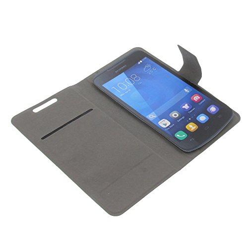 foto-kontor Tasche für Huawei Ascend Y540 Book Style Ultra-dünn Schutz Hülle Buch schwarz