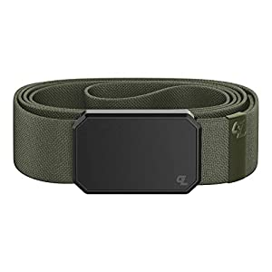 Groove Belt by Groove Life – Men's Stretch Belt with Magnetic Aluminum Buckle, Lifetime Coverage