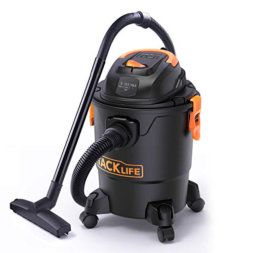 Tacklife Wet Dry Vacuum 5 Gallon, 5.5 Peak HP with 20 FT...